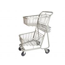 Shopping Cart, Double Basket Convenience
