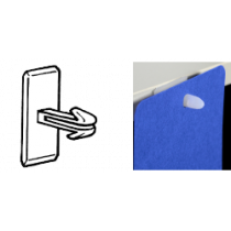 Ad Pad Clip With Adhesive