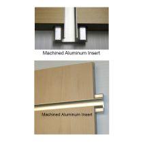 SLATWALL  PANELS WITH MACHINED ALUMINIUM INSERTS