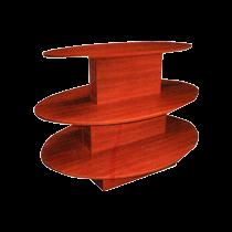 3 TIER DISPLAY TABLE OVAL SHAPE
