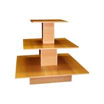 3 TIER DISPLAY TABLE SQUARE SHAPE