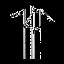 GK85C Four way rack