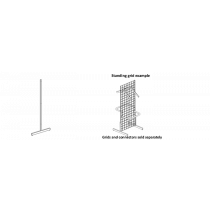 "Grid Panel Leg 60"""