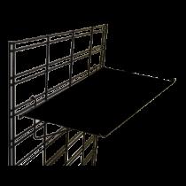 Straight Sheet Metal Shelves