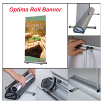 Optima Roll Banner 800mm x 2000mm