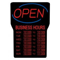 LED Open Signs  with Business Hours