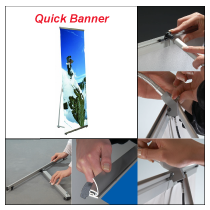 Quick Banner Single Sided 800mm x 2000mm